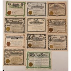 Summit County, Colorado Mining Stock Certificate Collection  #107679
