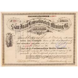 San Juan Con Mining Stock  #105613