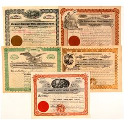 Colorado Copper Mining Stock Certificates  #103482