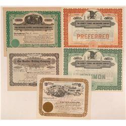 Colorado Mining Equipment Stock Certificates  #107665