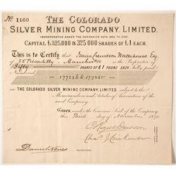 Colorado Silver Mining Company Stock  #85213