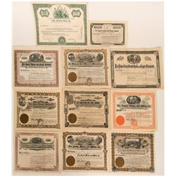 Eleven Different Colorado Stock Certificates - all Mining  #109043