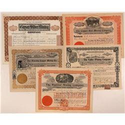 Five Different Colorado Mining Stock Certificates   #107693