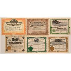 Miscellaneous Colorado Mining Stock Certificates  #109044