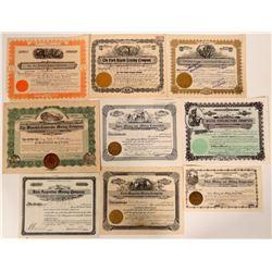 Nine Colorado Stock Certifcates  #105973