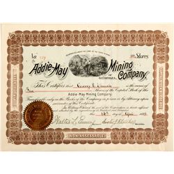 Addie May Mining Company Stock Certificate  #57025