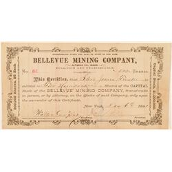 Bellevue Mining Company Stock Certificate  #100950