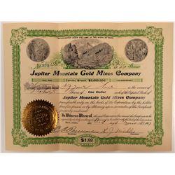 Jupiter Mountain Gold Mines Stock  #106219