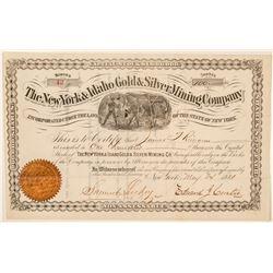 New York & Idaho Gold & Silver Mining Co. Stock Certificate  #101570