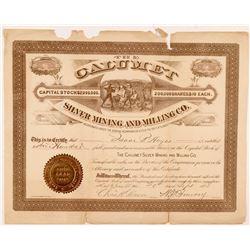 Calumet Silver Mining & Milling Co. Stock Certificate  #104291
