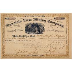 Mountain View Mining Stock  #72056