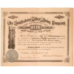 Gouldsboro Silver Mining Co. Stock Certificate, 1880  #110043