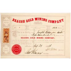 Beacon Gold Mining Co. Stock Certificate   #62842