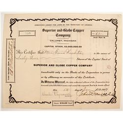 Superior and Globe Copper Stock  #89928