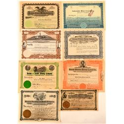 Montana Mining Stock Certificate Collection  #107638