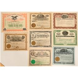 Nice Grouping of Montana Stock Certificate Group  #109046