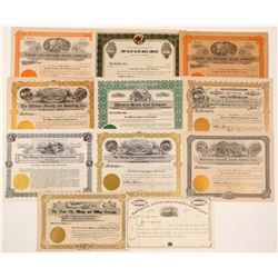 Unissued Montana Mining Stock Certificates  #107242