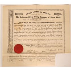 Mettacom Silver Mining Co.of Reese River, Nevada Bond, 1867  #110039