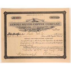 Zenoli Silver-Copper Company located in the Safford Mining District  #105987