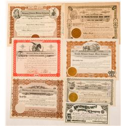 Seven Belmont, Nevada Mining Stock Certificates  #101576