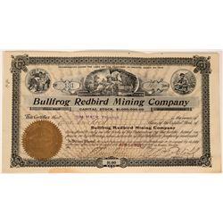 Bullfrog Redbird Mining Company Stock Certificate  #110055