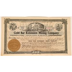 Gold Bar Extension Mining Co. Stock, Bullfrog, Nevada 1906  #110053