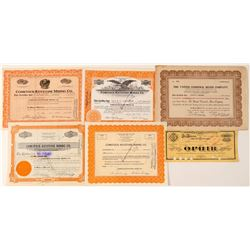 Group of Comstock Mining Stock Certificates  #101614