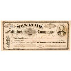 Senator Silver Mining Company Stock Certificate  #100730