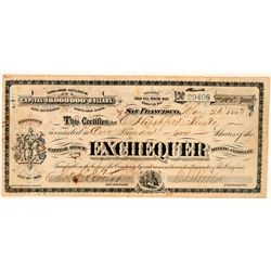 Exchequer Mining Company Stock Certificate  #101619