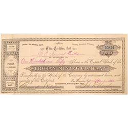 Trojan Mining Company Stock Certificate  #91545