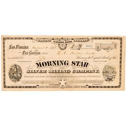 Morning Star Silver Mining Co. Stock Certificate (G.T. Brown Lith.)  #100731