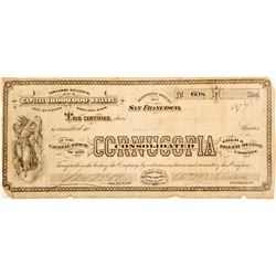 Cornucopia Consolidated Gold & Silver Mining Co. Stock  #60249