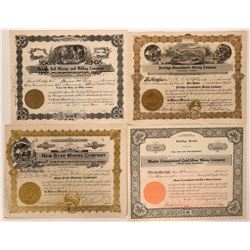 4 Stocks from Jarbidge, Nevada- Rare Ones  #110227