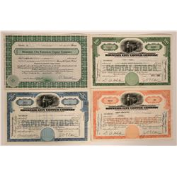 Four certificates from Mountain City, Nevada  #110230