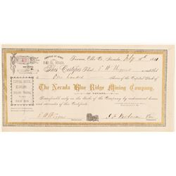 Nevada Blue Ridge Mining Co. Stock Certificate   #91822