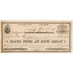 Charter Tunnel & Mining Co. Stock Certificate  #103502