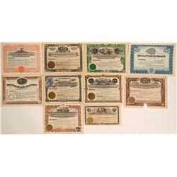 Ten Stock Certificates from Gilbert, Nevada  #110087