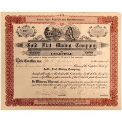 Gold Flat Mining Company Stock Certificate  #102508