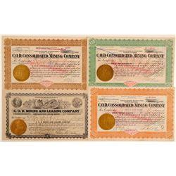 C.O.D. Mining Company Stock Certificates  #102537