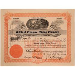 Goldfield Treasure Mining Company Stock Certificate  #110046