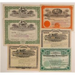 Goldfield-Oro Mining Company Stock Certificate Collection  #102540