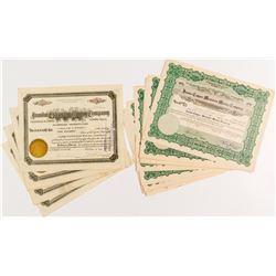 Jumbo Extension Mining Stock Certificates (17)  #51948