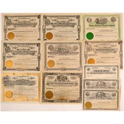 Mostly Unissued Goldfield, Nevada Mining Stock Certificates  #102493