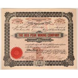 Red Peak Mining Co. Stock, Goldfield, Nevada, 1907  #110047