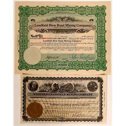 Leadfield, Nevada Stock Certificates  #105989