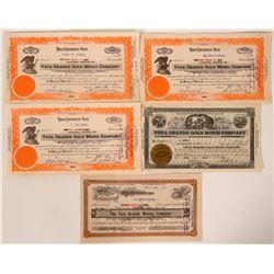 Veta Grande Stock Certificates - Located near Topaz Lake  #105950