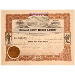 Major Nevada Placer Gold Mining Company - Humboldt County  #105986