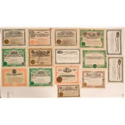 Stock Certificates from Luning, Nevada (15)  #110083