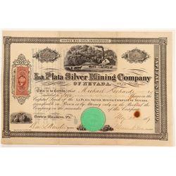 La Plata Mining Company of Nevada Stock Certificate   #107064