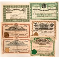 Rare Group of Tonopah, Nevada Mining Stocks  #110326